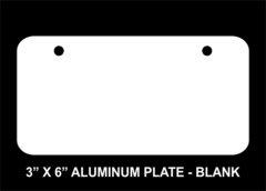 Blank 3 x 6 Aluminum License Plate