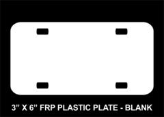Blank 3 x 6 FRP Plastic License Plate