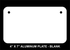 Blank 4 x 7 Aluminum License Plate