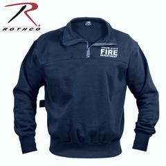 Navy Blue Firefighter EMS Heavy Duty Work Shirt With Custom Imprint