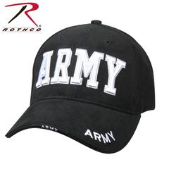 Rothco Deluxe Army Black 3D Embroidered Low Profile Cap