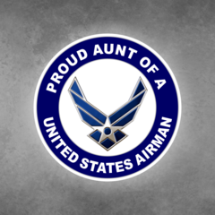 Proud Aunt of a United States Airman Car Vehicle Magnet