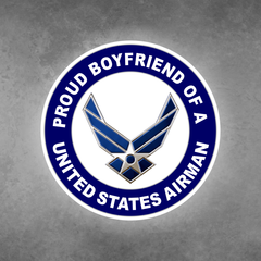 Proud Boyfriend of a United States Airman Car Vehicle Magnet