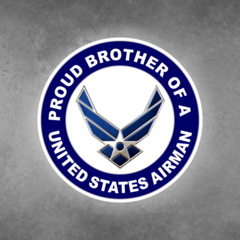 Proud Brother of a United States Airman Car Vehicle Magnet