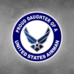 Proud Daughter of a United States Airman Car Vehicle Magnet