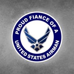 Proud Fiance of a United States Airman Car Vehicle Magnet