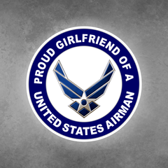 Proud Girlfriend of a United States Airman Car Vehicle Magnet