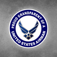 Proud Grandparent of a United States Airman Car Vehicle Magnet