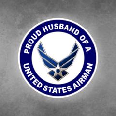 Proud Husband of a United States Airman Car Vehicle Magnet