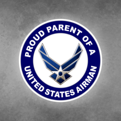 Proud Parent of a United States Airman Car Vehicle Magnet