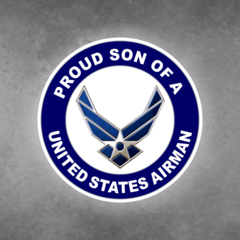 Proud Son of a United States Airman Car Vehicle Magnet