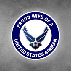 Proud Wife of a United States Airman Car Vehicle Magnet