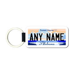 Personalized Alabama 1.5 X 3 Key Ring License Plate