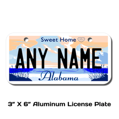 Personalized Alabama 3 X 6 License Plate