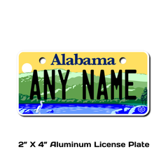 Personalized Alabama 2 X 4 License Plate
