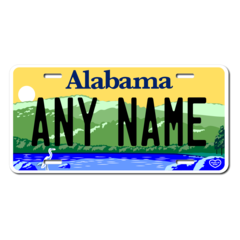 Personalized Alabama License Plate for Bicycles, Kid's Bikes, Carts, Cars or Trucks  Version 3