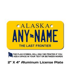 Personalized Alaska 2 X 4 License Plate