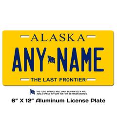 Personalized Alaska 6 X 12 License Plate