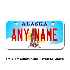 Personalized Alaska 3 X 6 License Plate