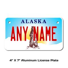 Personalized Alaska 4 X 7 License Plate