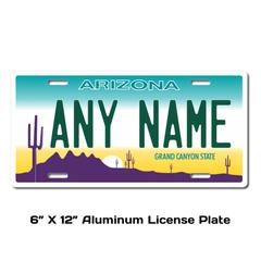 Personalized Arizona 6 X 12 License Plate