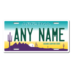 Personalized Arizona License Plate for Bicycles, Kid's Bikes, Carts, Cars or Trucks