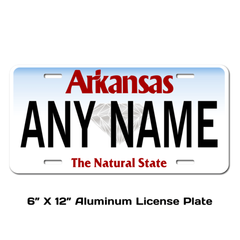 Personalized Arkansas 6 X 12 License Plate