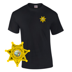 Law Enforcement Badge T-shirt Style 10 Custom Imprinted T-shirt