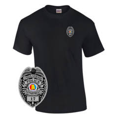 Law Enforcement Badge T-shirt Style 12 Custom Imprinted T-shirt