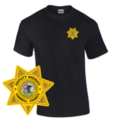 Law Enforcement Badge T-shirt Style 3 Custom Imprinted T-shirt