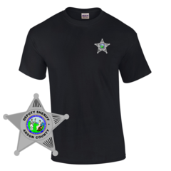 Law Enforcement Badge T-shirt Style 4 Custom Imprinted T-shirt