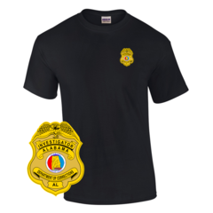 Law Enforcement Badge T-shirt Style 8 Custom Imprinted T-shirt