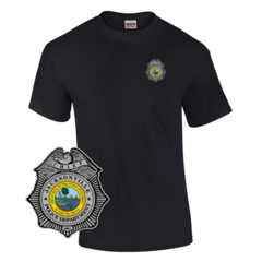 Law Enforcement Badge T-shirt Style 9 Custom Imprinted T-shirt