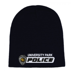 Police Badge Custom Bar Logo Cuffless Beanie