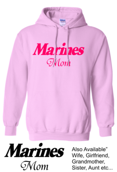 CLEARANCE Pink Marines Mom Hoodie SIZE MEDIUM