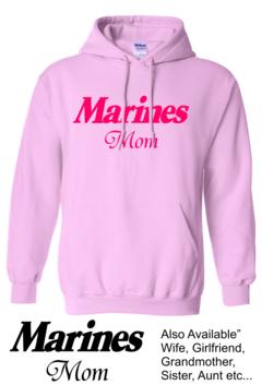 CLEARANCE Pink Marines Mom Hoodie SIZE MEDIUM