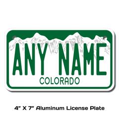 Personalized Colorado 4 X 7 License Plate