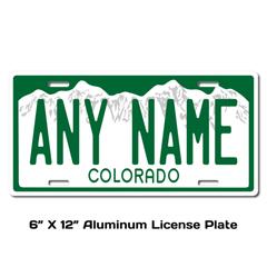 Personalized Colorado 6 X 12 License Plate