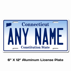 Personalized Connecticut 6 X 12 License Plate