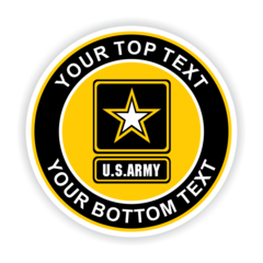 Personalized United States Army Car Magnet