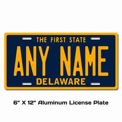 Personalized Delaware 6 X 12 License Plate
