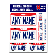 Personalized Ohio License Plate Decals - Stickers Version 3