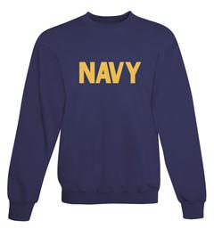 CLEARANCE US Navy Sweatshirt Navy Blue w/ Athletic Gold Imprint SIZE XL