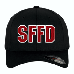 Fire Department Custom Embroidered Flexfit Letter Cap