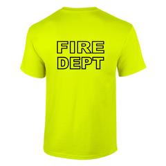 Custom Fire Department Flames T-Shirt