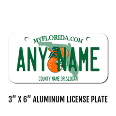 Personalized Florida 3 X 6 License Plate
