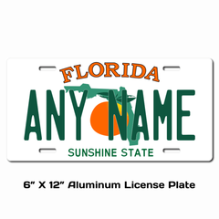Personalized Florida 6 X 12 License Plate