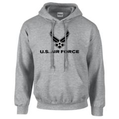 US Air Force Hooded Pullover Sweatshirt Grey