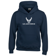 Youth US Air Force Navy Blue Hooded Sweatshirt - Free Shipping