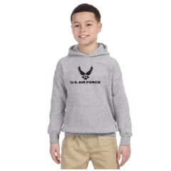 Youth US Air Force Grey Hooded Sweatshirt - Free Shipping
